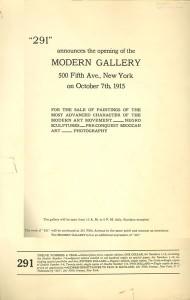 Modern Gallery Announcement - 1915