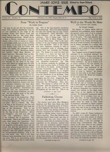 Contempo: James Joyce Issue. 3:13 (15 Feb. 1934): 1.
