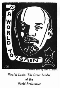 John C. Rogers, Nicolai Lenin: The Great Leader of the World Proletariat. No. 6 (May-June 1934): 19.