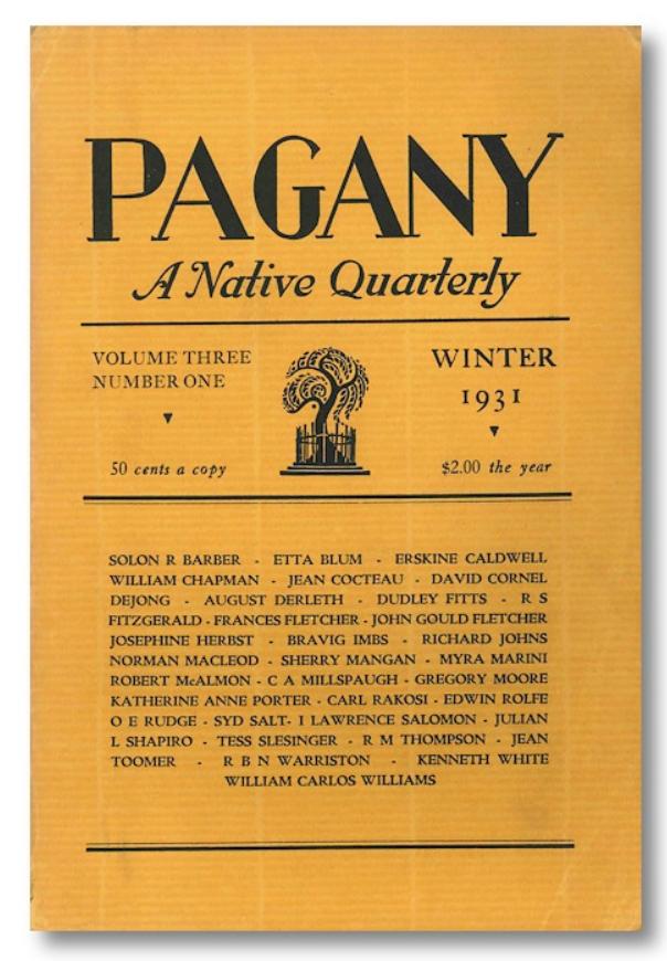 Pagany Vol. 3 No. 1 (cover)