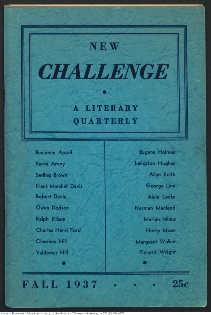 new challenge 1937 front cover